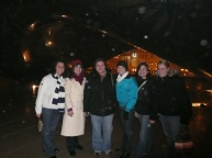 FY10 Winter Senate Meeting in Chicago; attendees take a brisk walk to the Bean